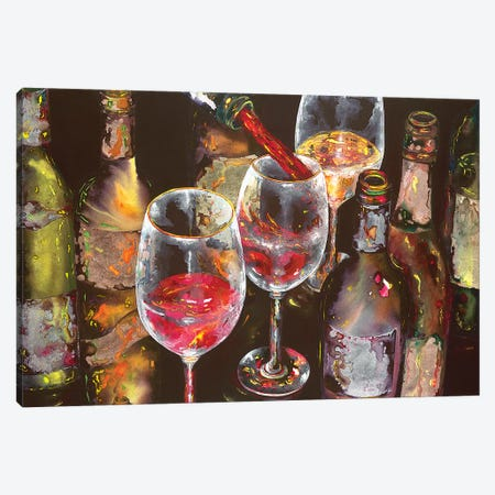 A Taste Of Napa Canvas Print #VPE1} by Vaso Peritos Canvas Print