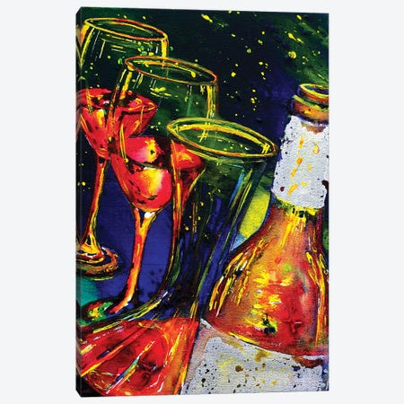 Red Please Canvas Print #VPE30} by Vaso Peritos Canvas Wall Art