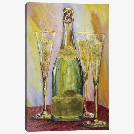 Sparkling Wine Canvas Print #VPE34} by Vaso Peritos Canvas Print