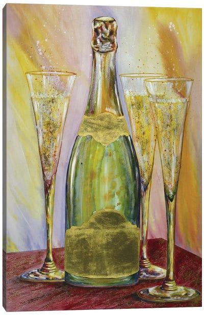 Sparkling Wine Canvas Art Print