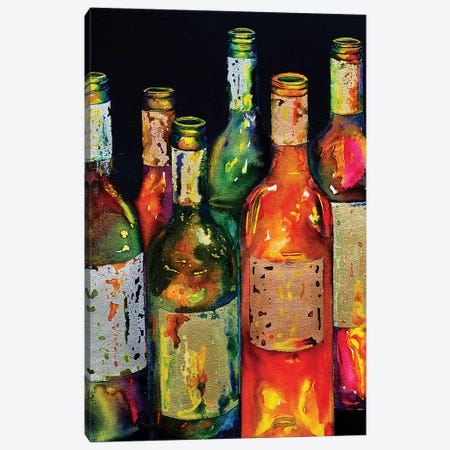 Uncorked Canvas Print #VPE40} by Vaso Peritos Canvas Art Print