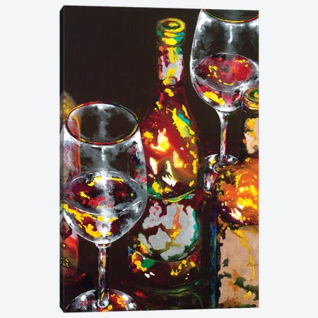 Vino Rosso Rosso Canvas Print #VPE43} by Vaso Peritos Canvas Art Print