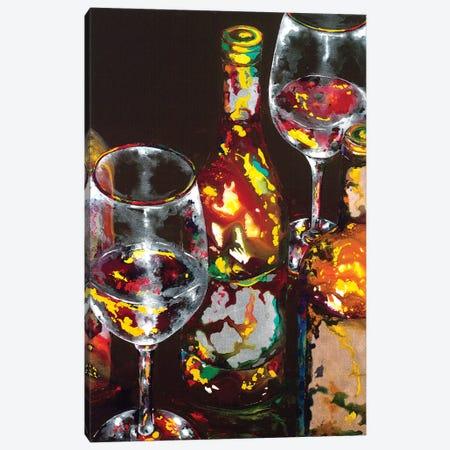 Vino Rosso Rosso Canvas Print #VPE43} by Vaso Peritos Canvas Art Print