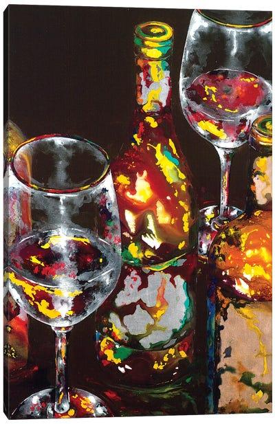 Vino Rosso Rosso Canvas Art Print