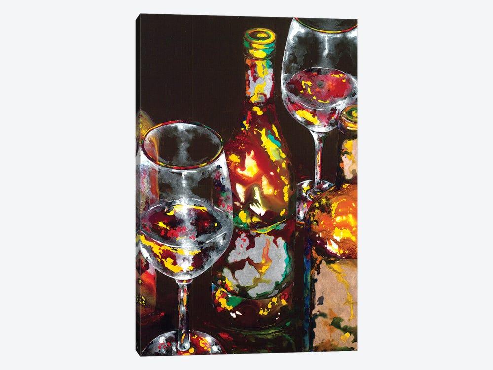 Vino Rosso Rosso by Vaso Peritos 1-piece Canvas Art