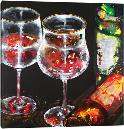 Wine For Two Canvas Art Print