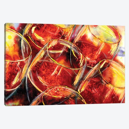 Blind Tasting Of Red Canvas Print #VPE6} by Vaso Peritos Canvas Artwork