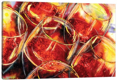 Blind Tasting Of Red Canvas Art Print