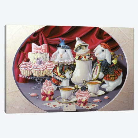 Four Hours In Wonderland Canvas Print #VQU14} by Valéry Vecu Quitard Canvas Wall Art