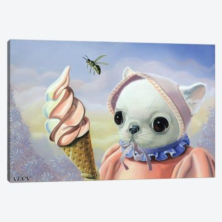 Ice Cream Canvas Print #VQU18} by Valéry Vecu Quitard Canvas Print