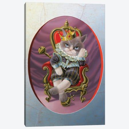 It's Hard To Be King Canvas Print #VQU19} by Valéry Vecu Quitard Canvas Art Print