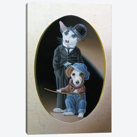 A Dog S Life Canvas Print #VQU1} by Valéry Vecu Quitard Canvas Art Print