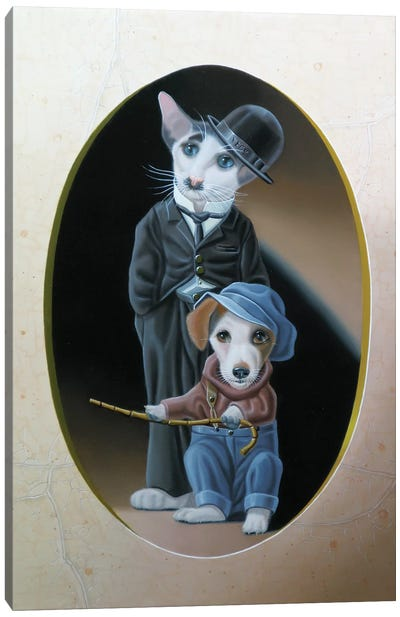 A Dog S Life Canvas Art Print