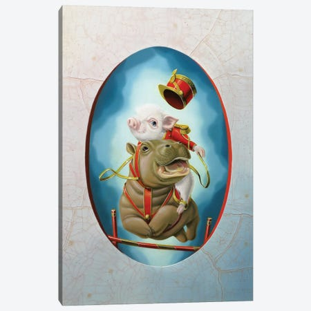 Jumping Canvas Print #VQU20} by Valéry Vecu Quitard Canvas Art