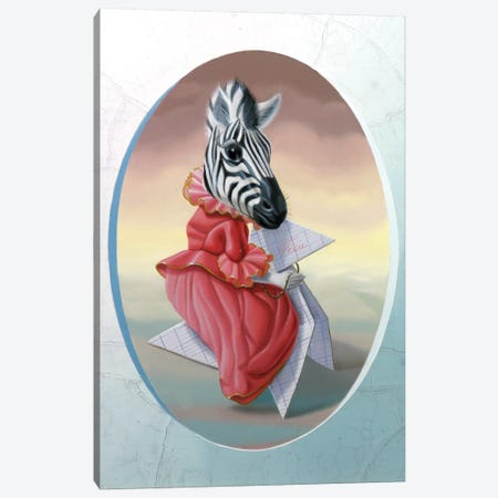 Madame Zebre Canvas Print #VQU24} by Valéry Vecu Quitard Canvas Print