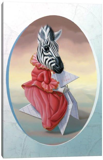 Madame Zebre Canvas Art Print