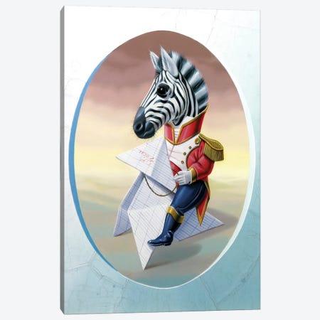 Mister Zebra Canvas Print #VQU28} by Valéry Vecu Quitard Canvas Wall Art