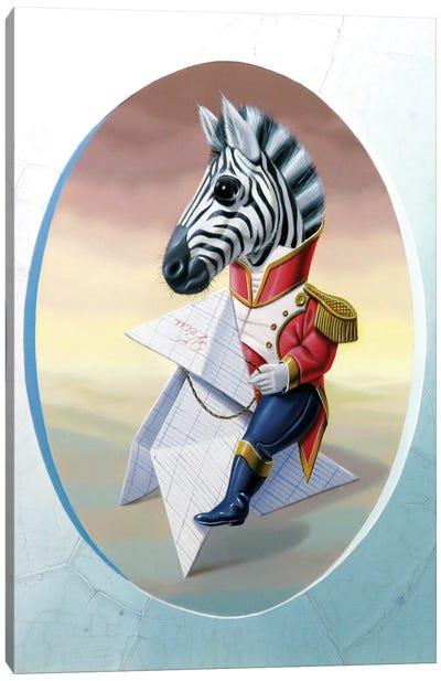 Mister Zebra Canvas Art Print