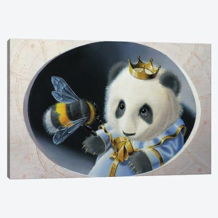 Panda Canvas Print #VQU32} by Valéry Vecu Quitard Art Print