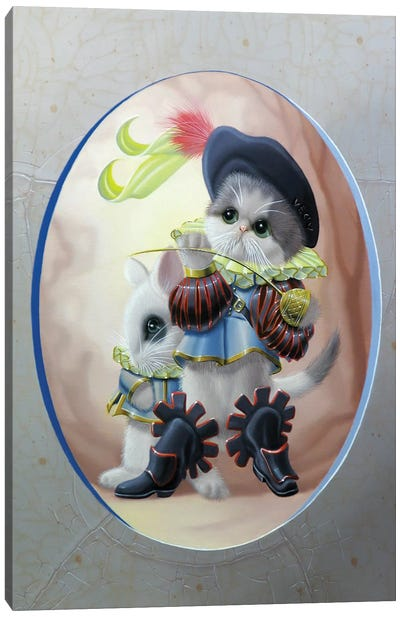 Puss In Boots Canvas Art Print
