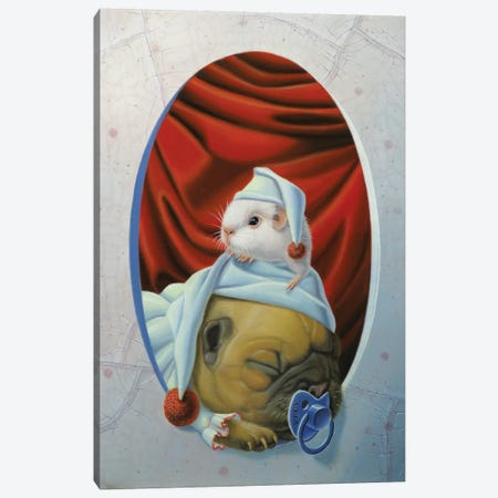 Snooze Canvas Print #VQU38} by Valéry Vecu Quitard Canvas Print