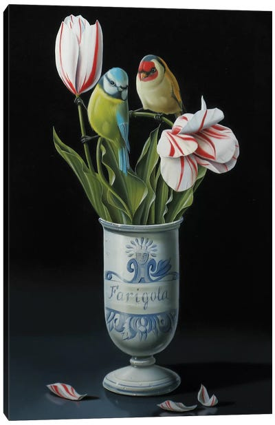 The Apothecary Vase And Tulips Canvas Art Print