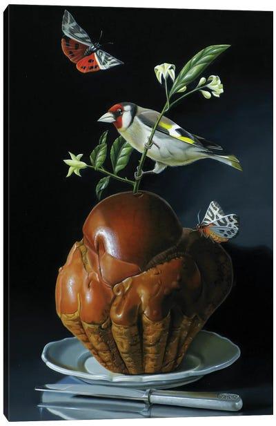 The Brioche And The Goldfinch Canvas Art Print