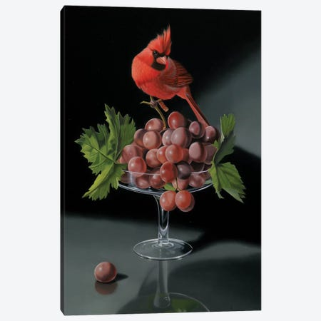 The Cardinal With The Cup Of Grapes Canvas Print #VQU47} by Valéry Vecu Quitard Canvas Art Print