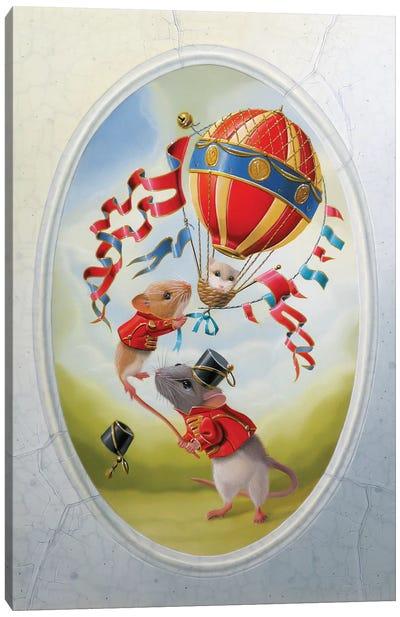 Balloon Under Mistral Canvas Art Print