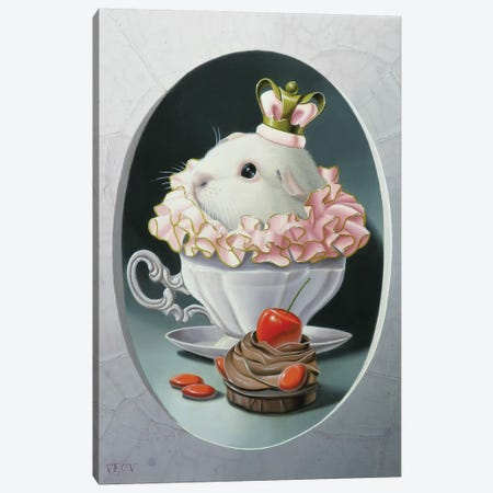 The Guinea Pig With Sweets Canvas Print #VQU56} by Valéry Vecu Quitard Canvas Artwork