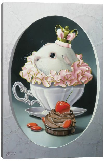 The Guinea Pig With Sweets Canvas Art Print