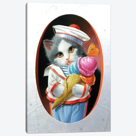 The Ice Cream Cone Canvas Print #VQU58} by Valéry Vecu Quitard Canvas Print