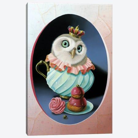 The Owl With Celadon Mug Canvas Print #VQU67} by Valéry Vecu Quitard Canvas Art Print