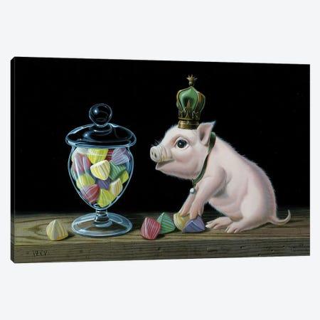 The Piglet With The Berlingots 3-Piece Canvas #VQU69} by Valéry Vecu Quitard Canvas Artwork