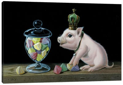The Piglet With The Berlingots Canvas Art Print