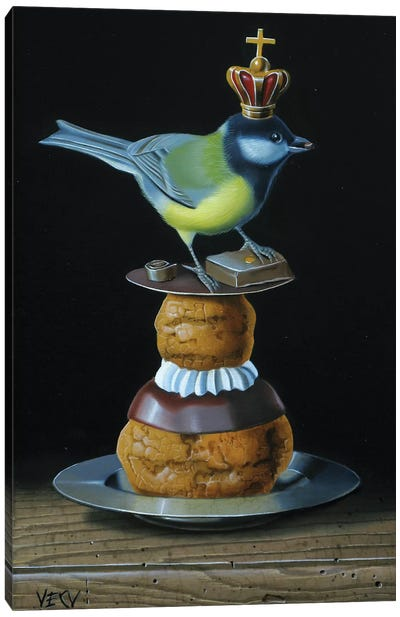 The Tit And The Pastry Canvas Art Print