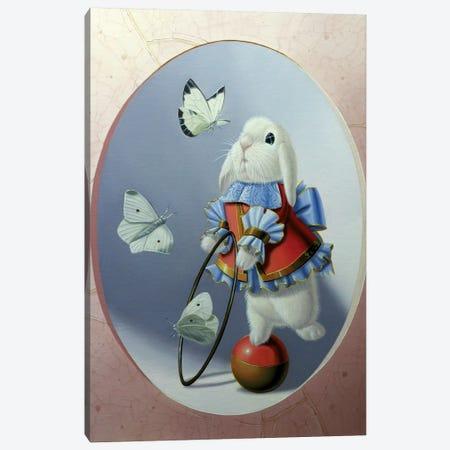 White Butterflies Canvas Print #VQU80} by Valéry Vecu Quitard Canvas Art