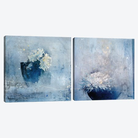 Blue Magnificence Diptych Canvas Print Set #VRI2HSET001} by Heleen Vriesendorp Art Print