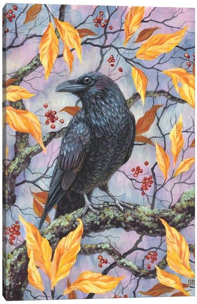 Autumn Raven Canvas Art Print