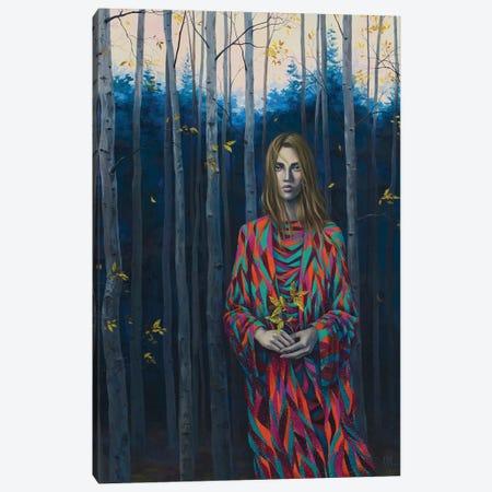 Blue Forest Wanderer Canvas Print #VRK15} by Vasilisa Romanenko Canvas Art