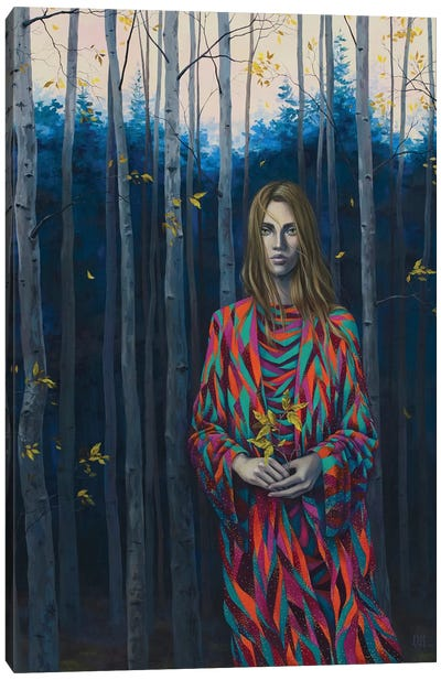 Blue Forest Wanderer Canvas Art Print