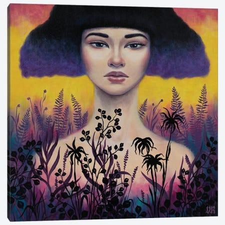 Violet Canvas Print #VRK41} by Vasilisa Romanenko Canvas Wall Art