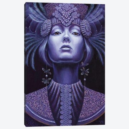Violet Queen Canvas Print #VRK42} by Vasilisa Romanenko Canvas Artwork