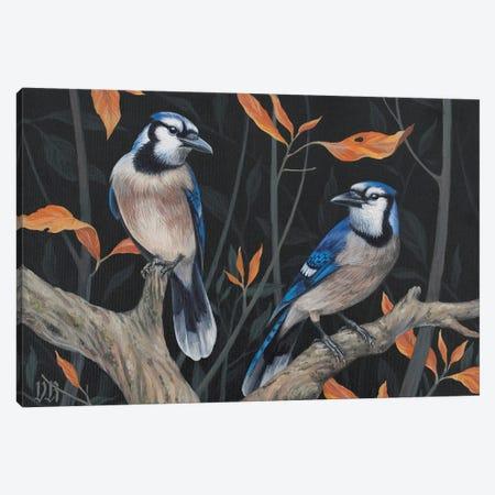 Blue Jays Canvas Print #VRK47} by Vasilisa Romanenko Art Print