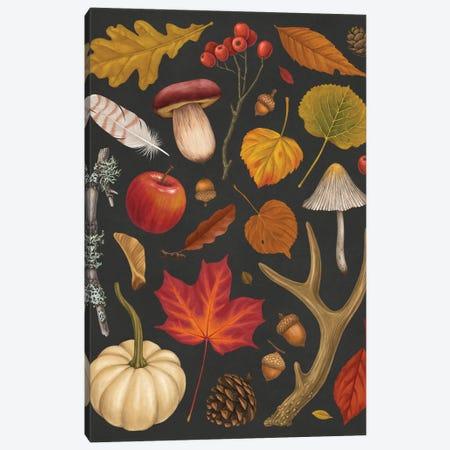 Autumn Walk Canvas Print #VRK55} by Vasilisa Romanenko Canvas Artwork