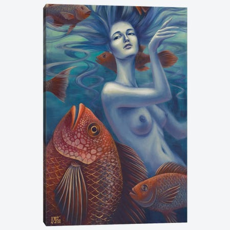 Aquatic Canvas Print #VRK5} by Vasilisa Romanenko Canvas Artwork