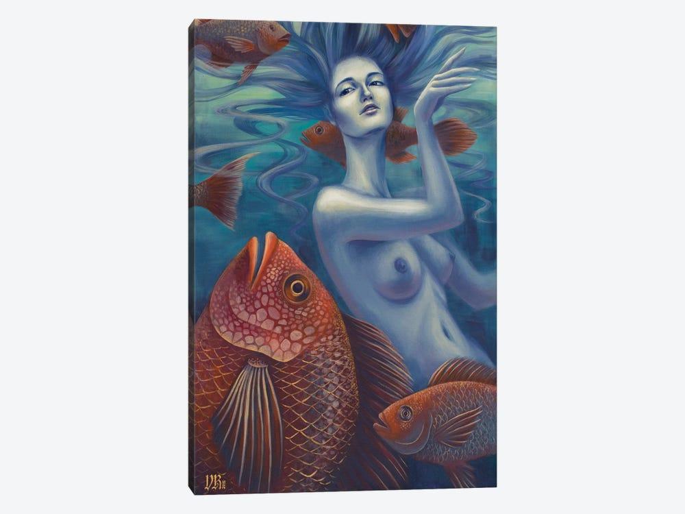 Aquatic by Vasilisa Romanenko 1-piece Canvas Art Print