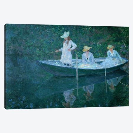 Boat in Giverny Canvas Print #VRM13} by Claude Monet Art Print