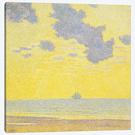 Big Clouds Canvas Print #VRM5} by Theo van Rysselberghe Canvas Wall Art