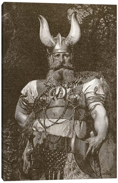 A Viking Chief, illustration from 'The Church of England: A History for the People', pub. c.1910 Canvas Art Print